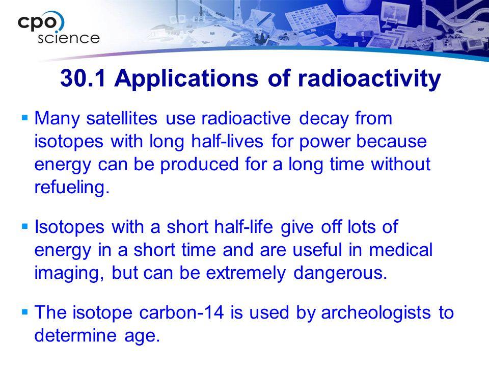 30.1 Applications of radioactivity