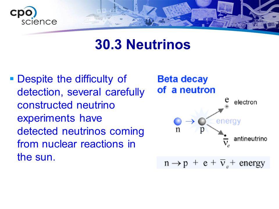 30.3 Neutrinos