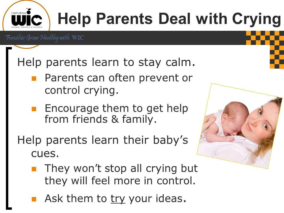 Help Parents Deal with Crying