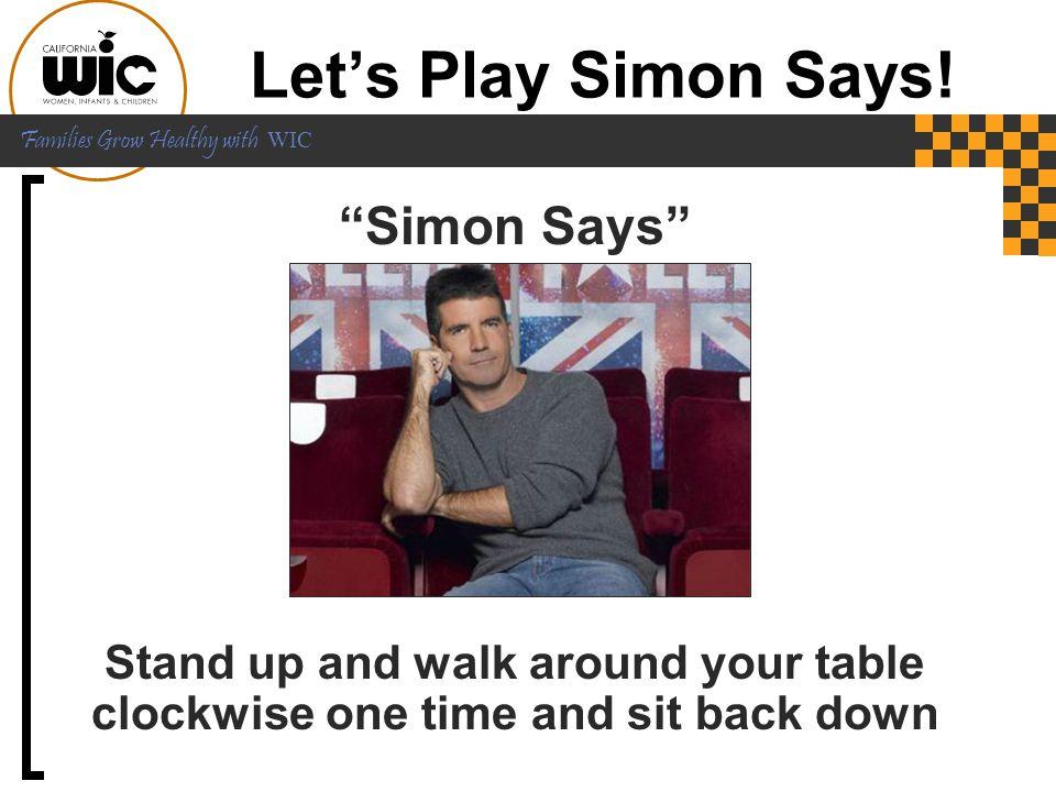 Let's Play Simon Says! Simon Says