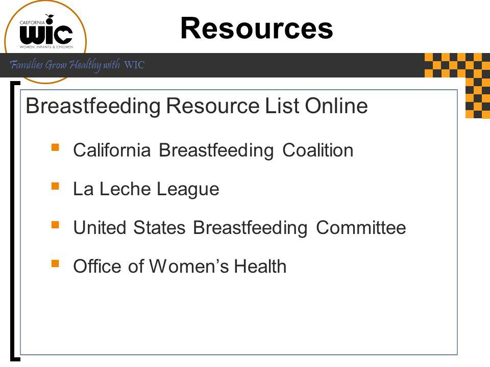 Resources Breastfeeding Resource List Online