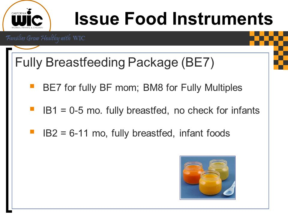 Issue Food Instruments