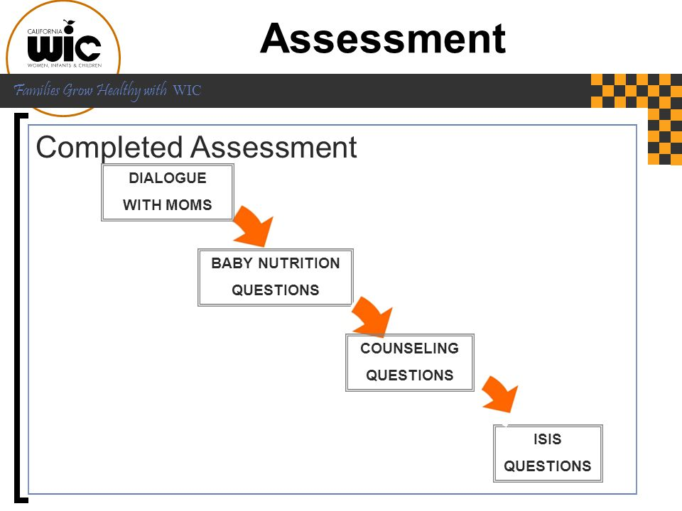 Assessment Completed Assessment DIALOGUE WITH MOMS BABY NUTRITION