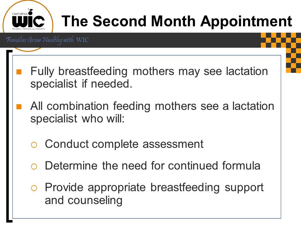 The Second Month Appointment