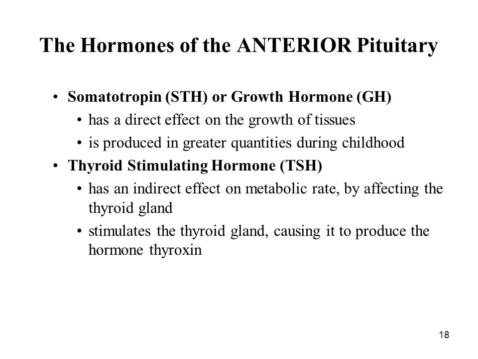 The Hormones of the ANTERIOR Pituitary