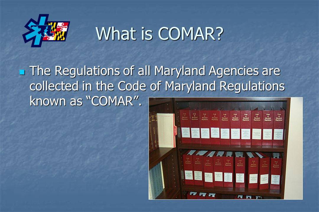What is COMAR.