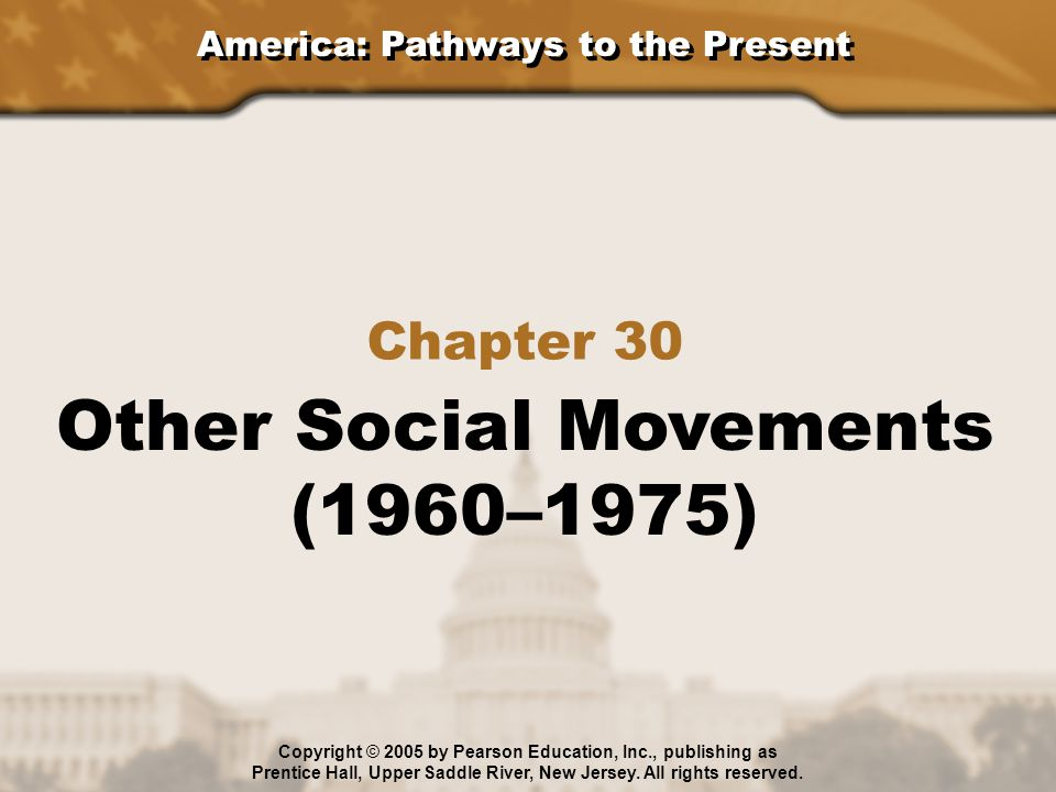 Other Social Movements (1960–1975)