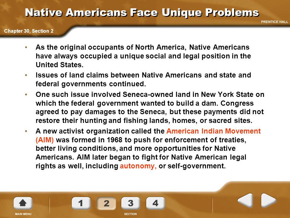 Native Americans Face Unique Problems