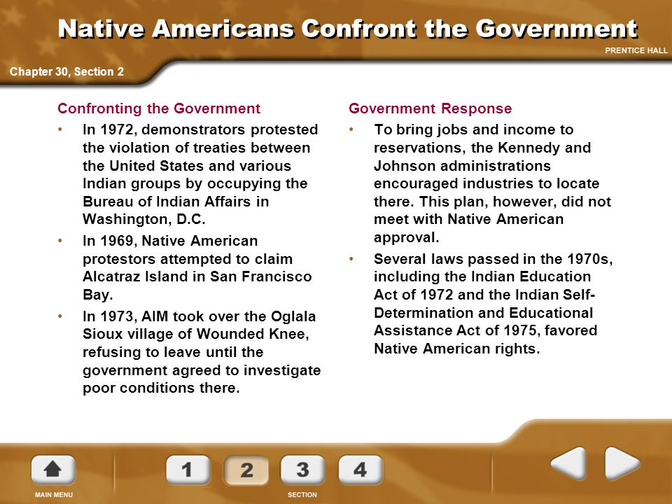 Native Americans Confront the Government