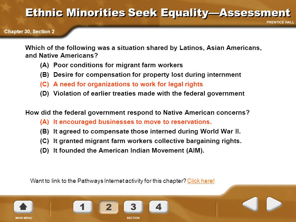 Ethnic Minorities Seek Equality—Assessment