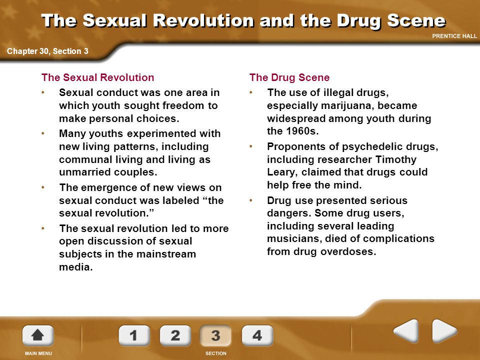 The Sexual Revolution and the Drug Scene