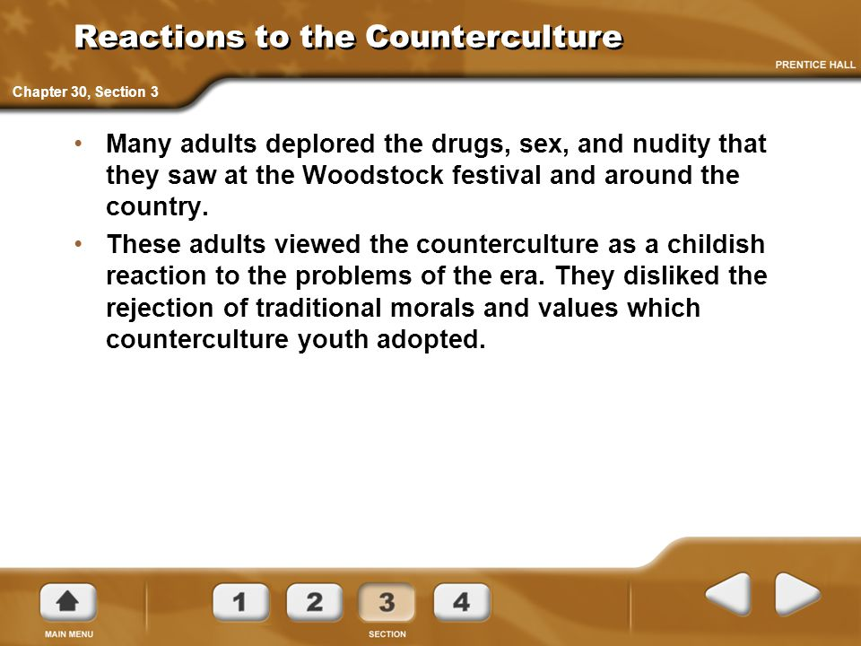 Reactions to the Counterculture