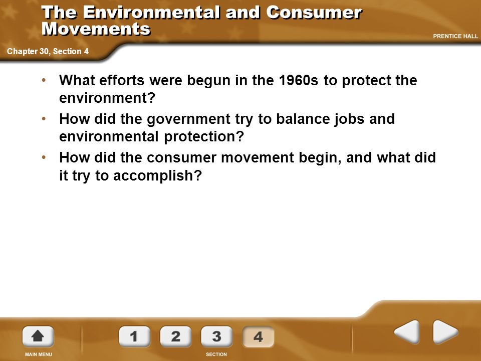 The Environmental and Consumer Movements