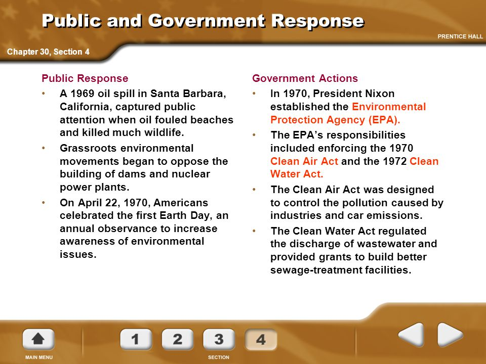 Public and Government Response