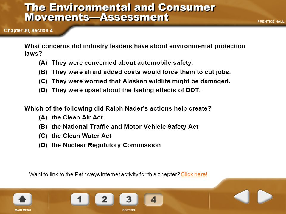 The Environmental and Consumer Movements—Assessment