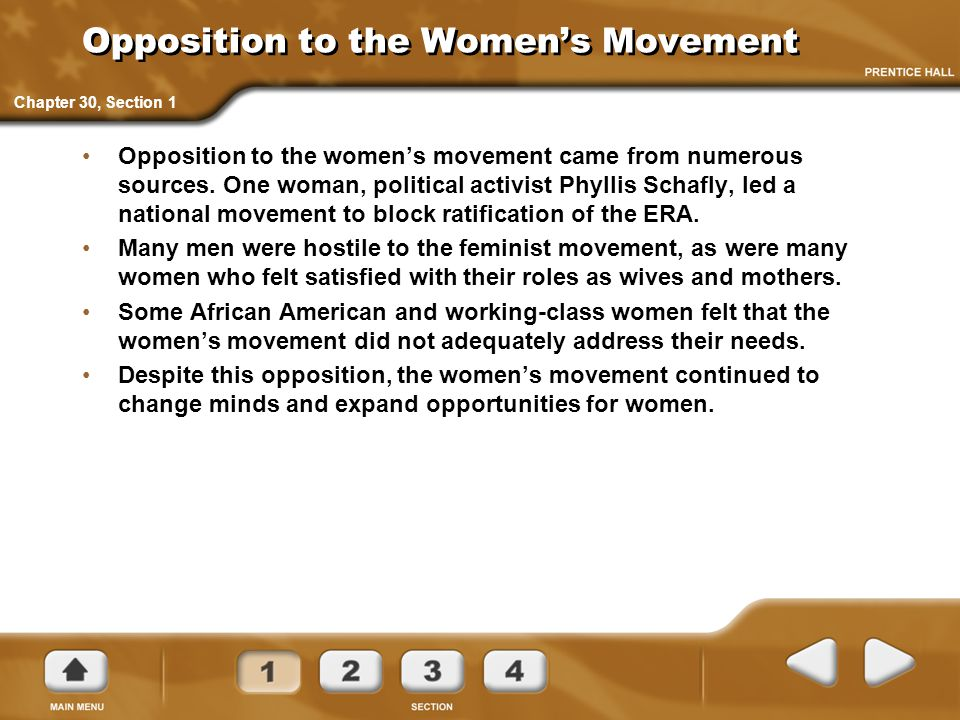 Opposition to the Women's Movement
