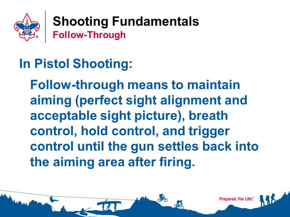 Shooting Fundamentals Follow-Through