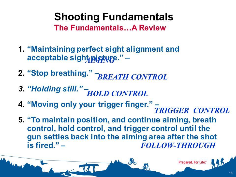 Shooting Fundamentals The Fundamentals…A Review