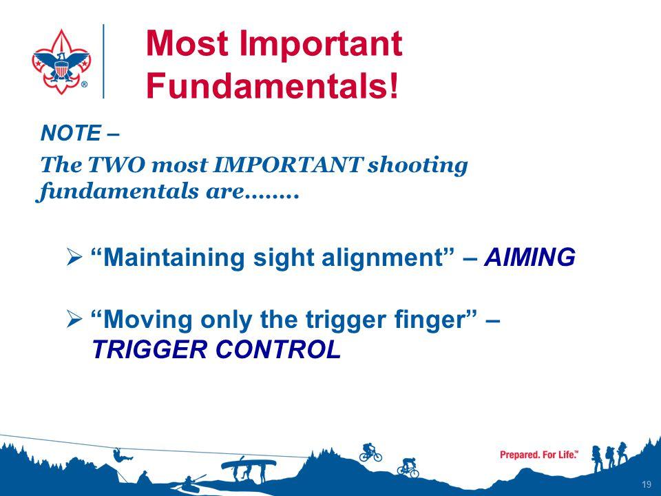 Most Important Fundamentals!