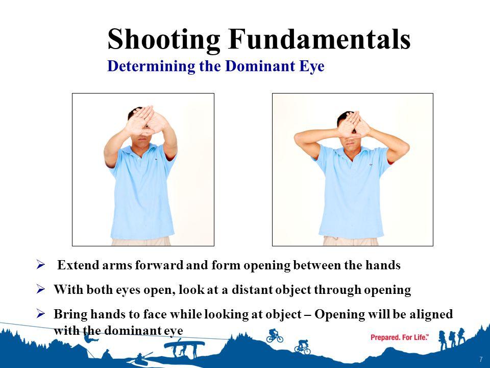 Shooting Fundamentals Determining the Dominant Eye