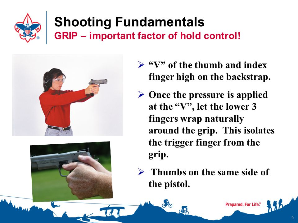 Shooting Fundamentals GRIP – important factor of hold control!