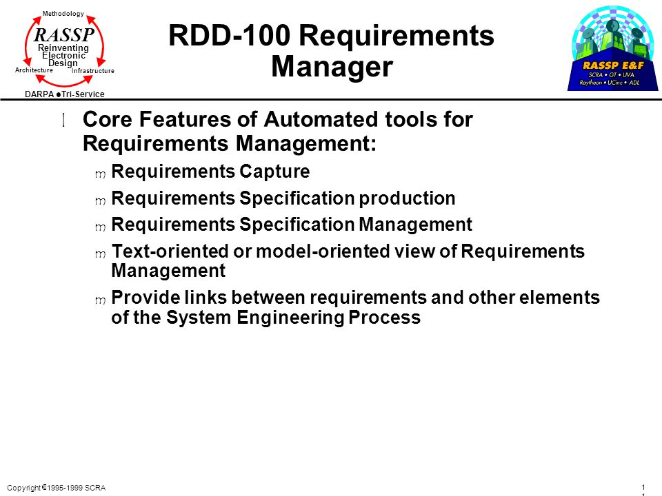 RDD-100 Requirements Manager