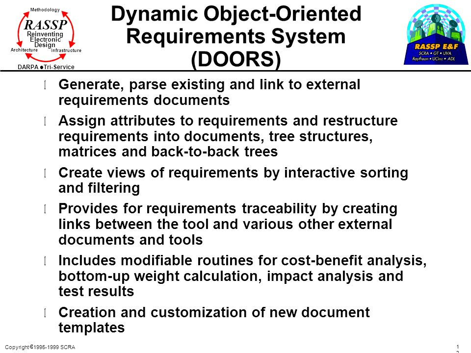Dynamic Object-Oriented Requirements System (DOORS)
