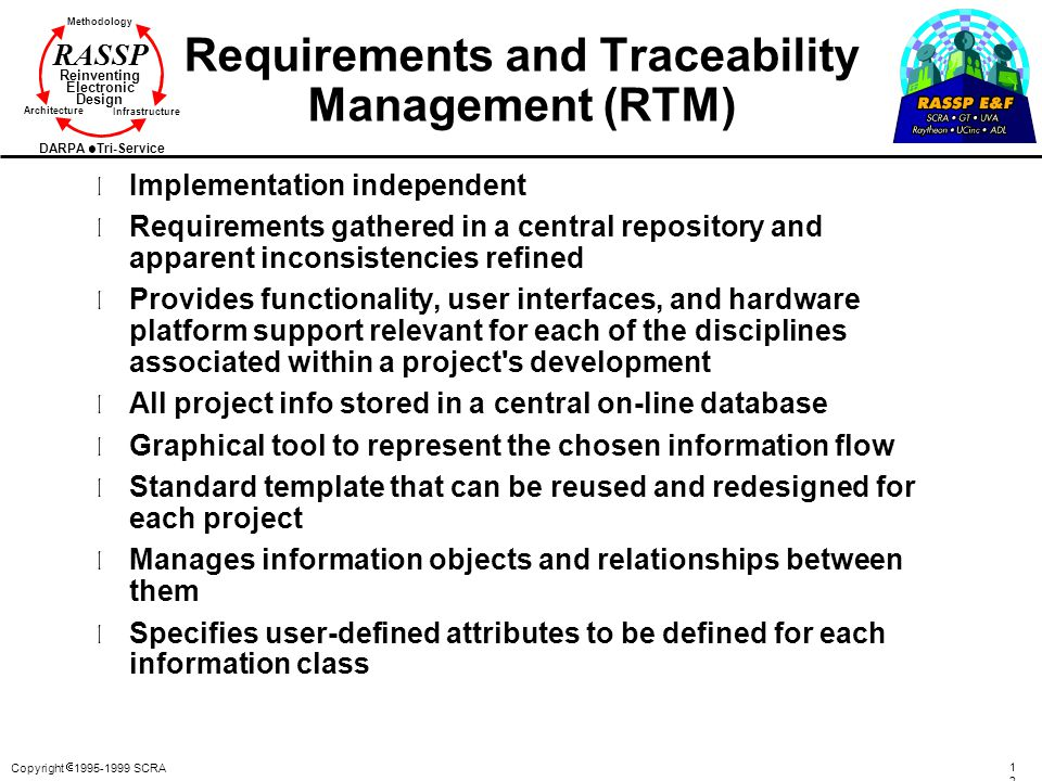 Requirements and Traceability Management (RTM)