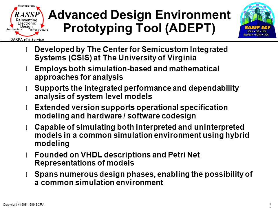 Advanced Design Environment Prototyping Tool (ADEPT)