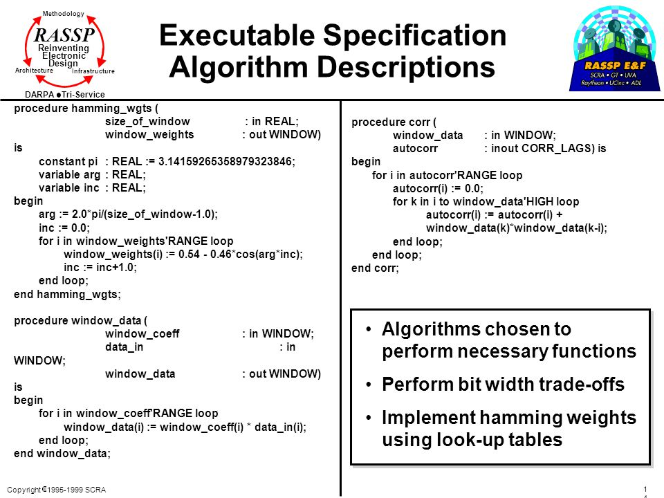 Executable Specification Algorithm Descriptions