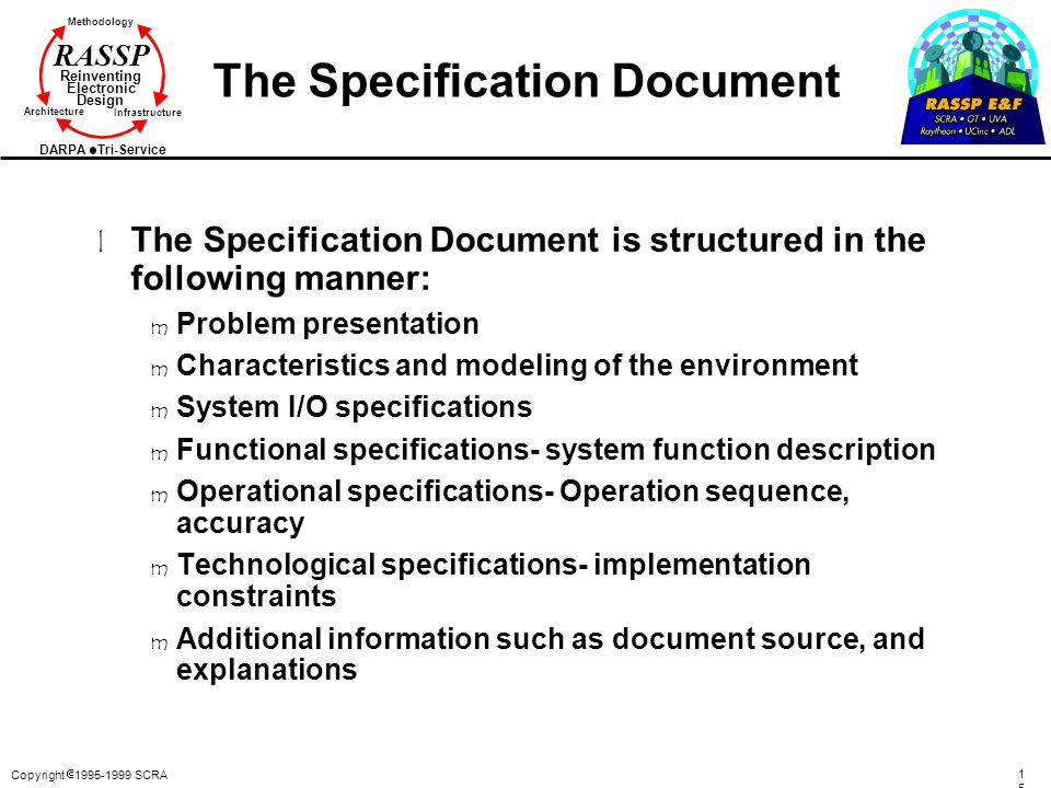 The Specification Document