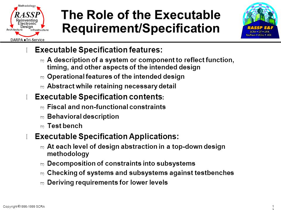 The Role of the Executable Requirement/Specification