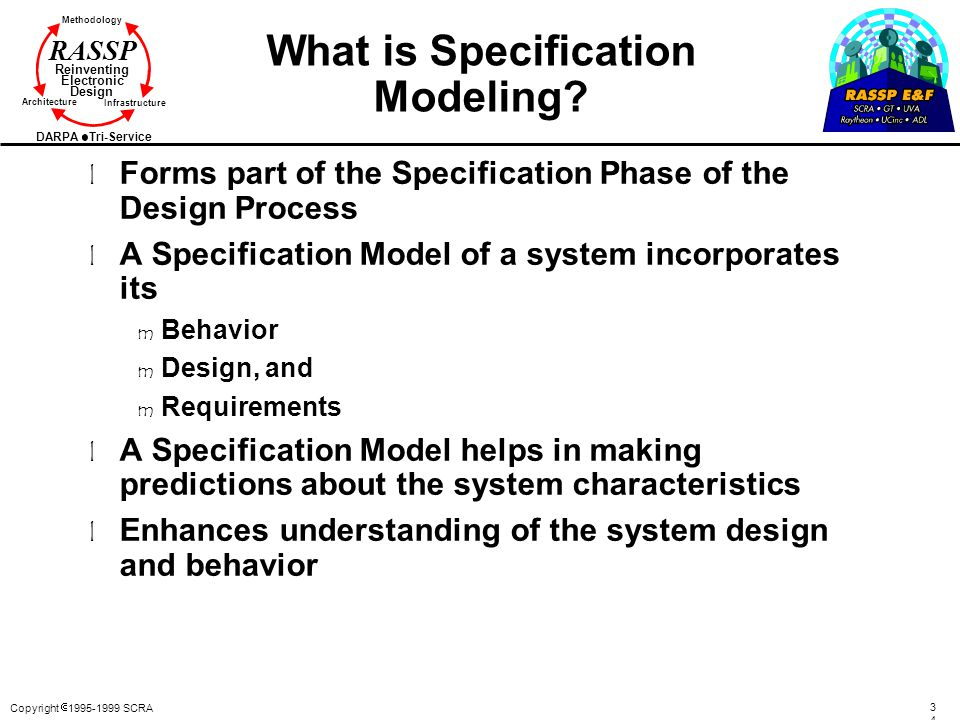 What is Specification Modeling