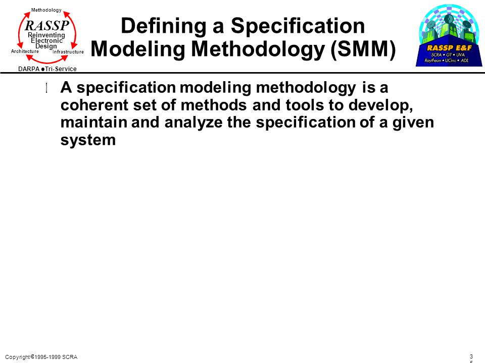 Defining a Specification Modeling Methodology (SMM)