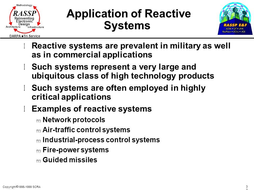Application of Reactive Systems
