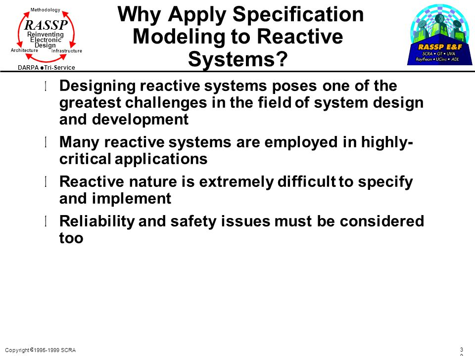 Why Apply Specification Modeling to Reactive Systems