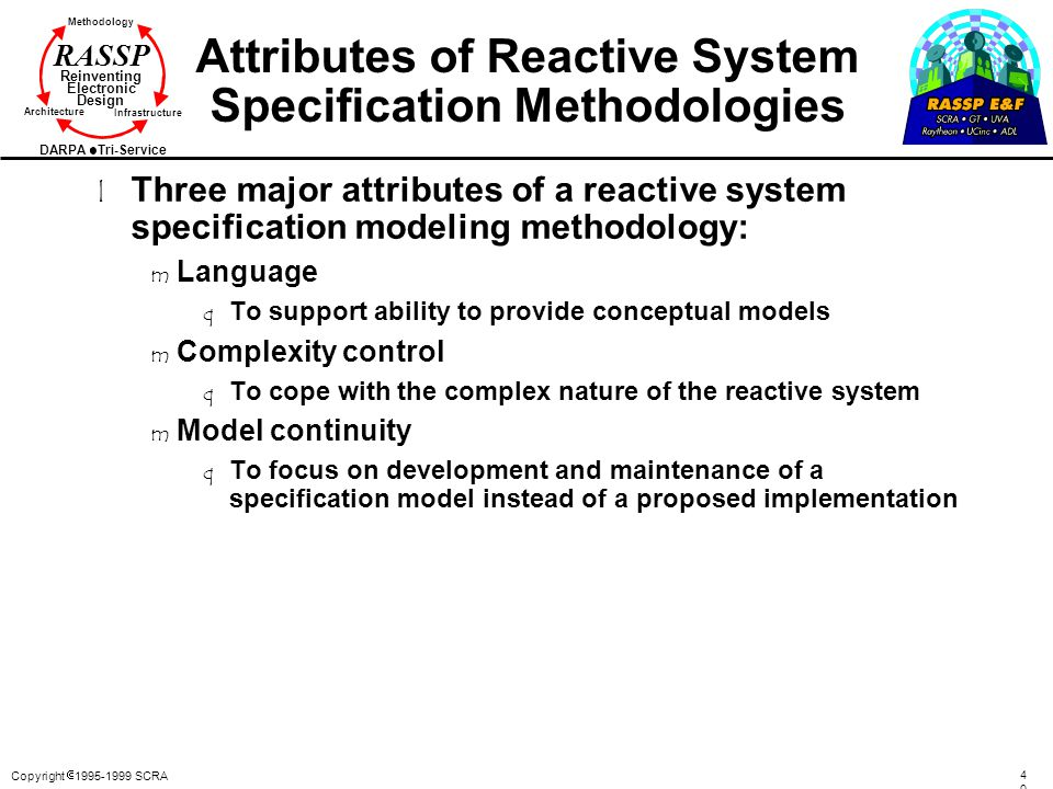 Attributes of Reactive System Specification Methodologies