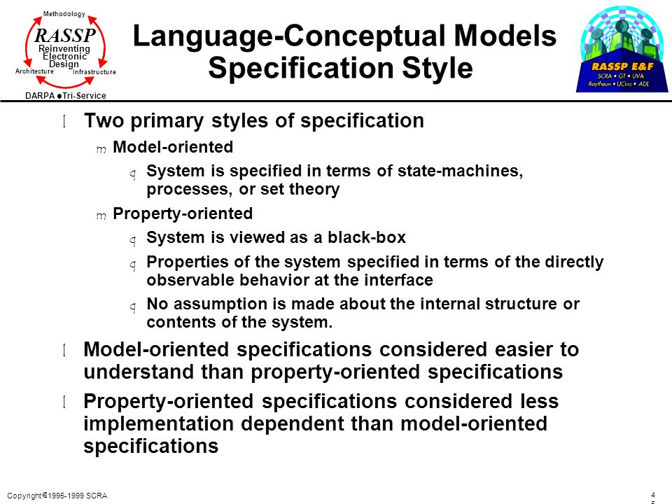 Language-Conceptual Models Specification Style