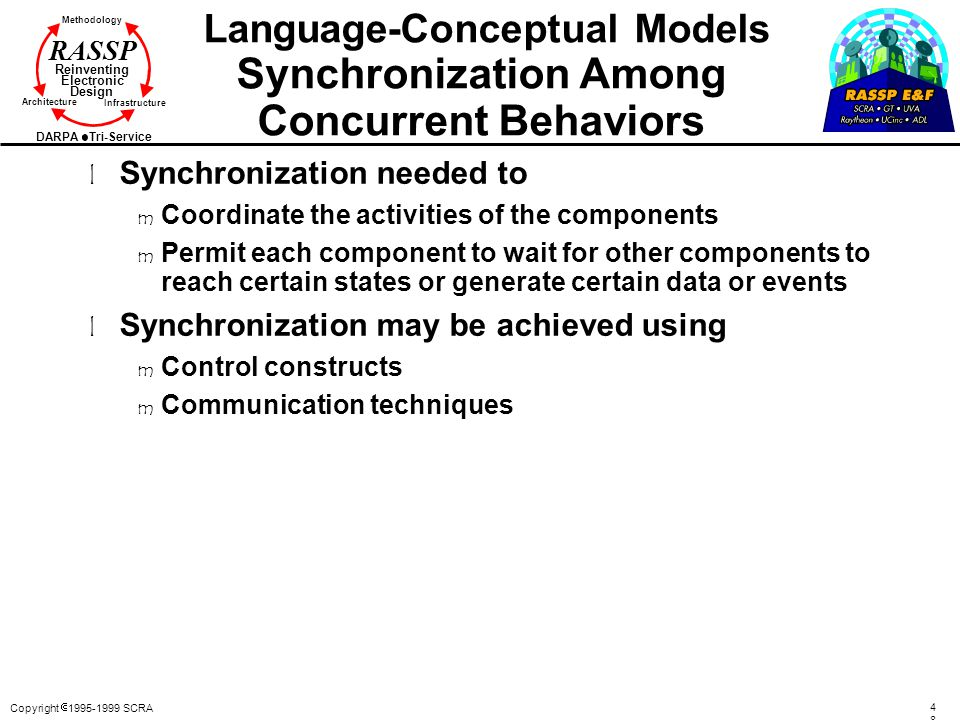 Language-Conceptual Models Synchronization Among Concurrent Behaviors