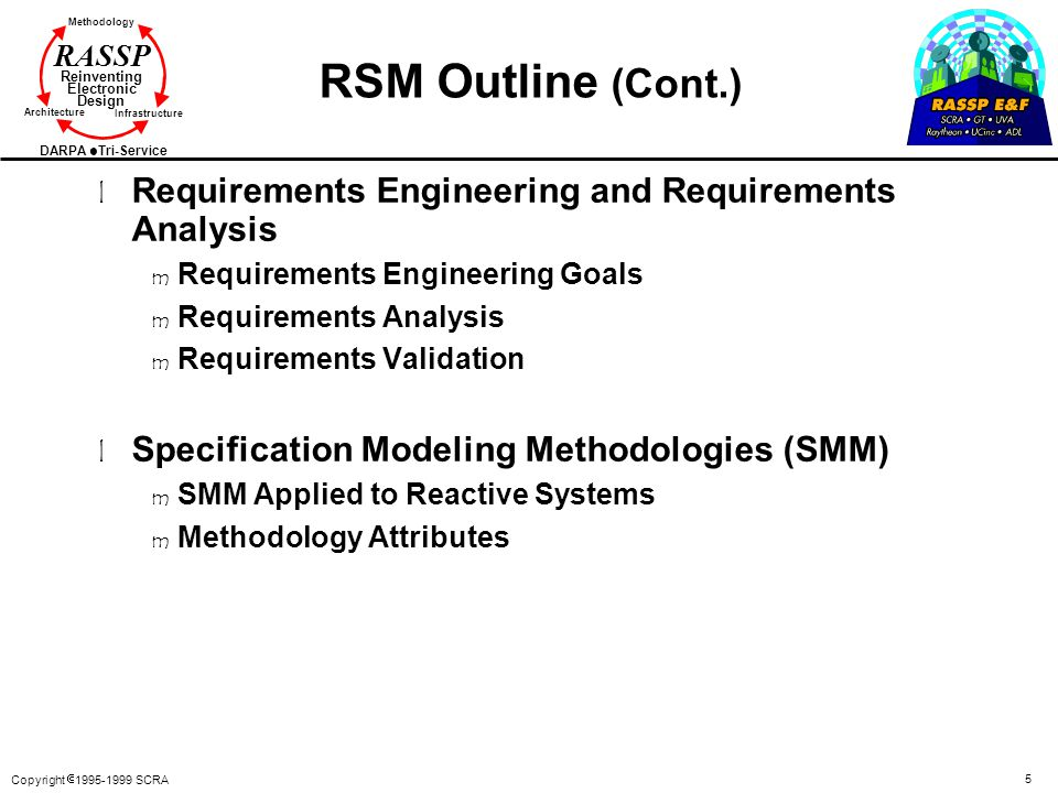 RSM Outline (Cont.) Requirements Engineering and Requirements Analysis