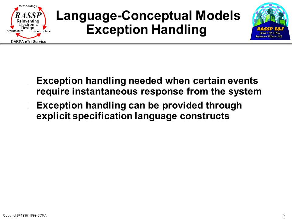 Language-Conceptual Models Exception Handling