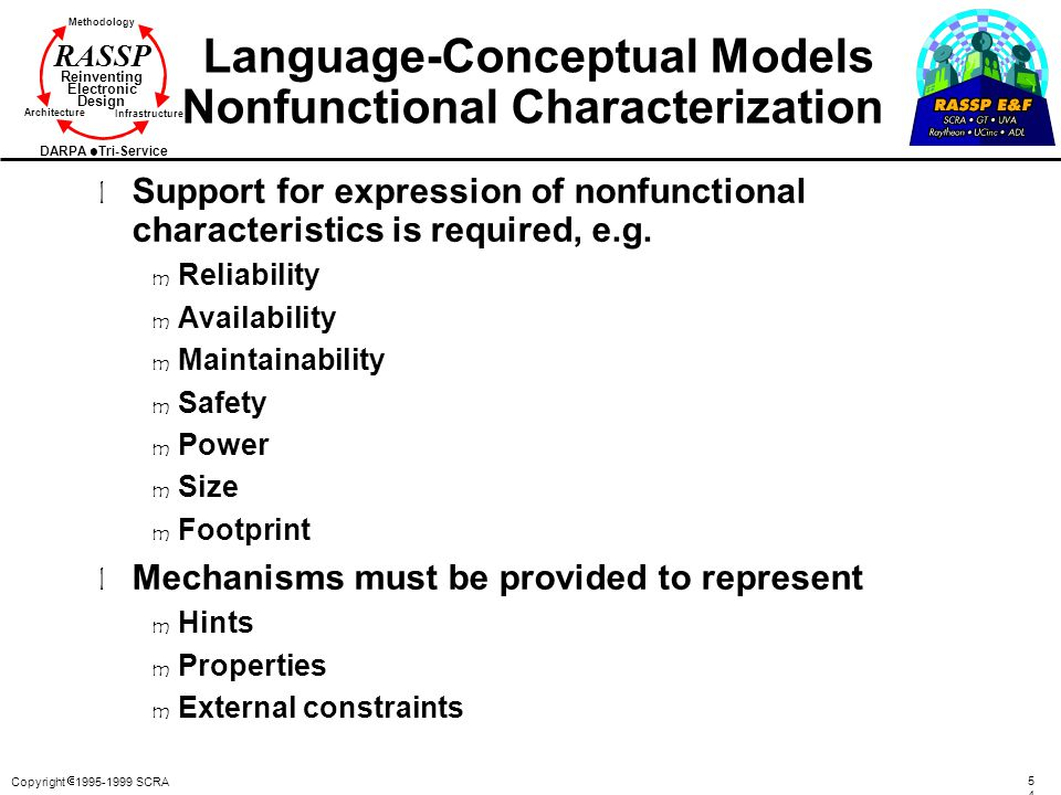 Language-Conceptual Models Nonfunctional Characterization