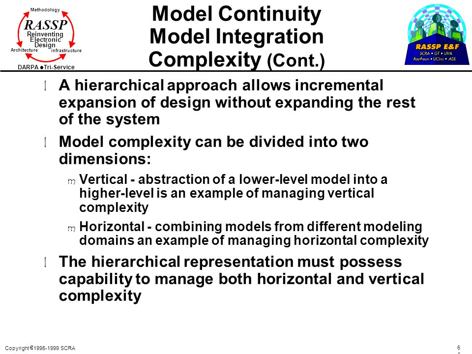 Model Continuity Model Integration Complexity (Cont.)