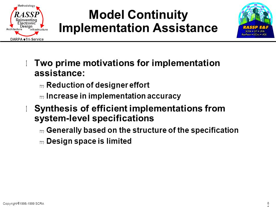 Model Continuity Implementation Assistance