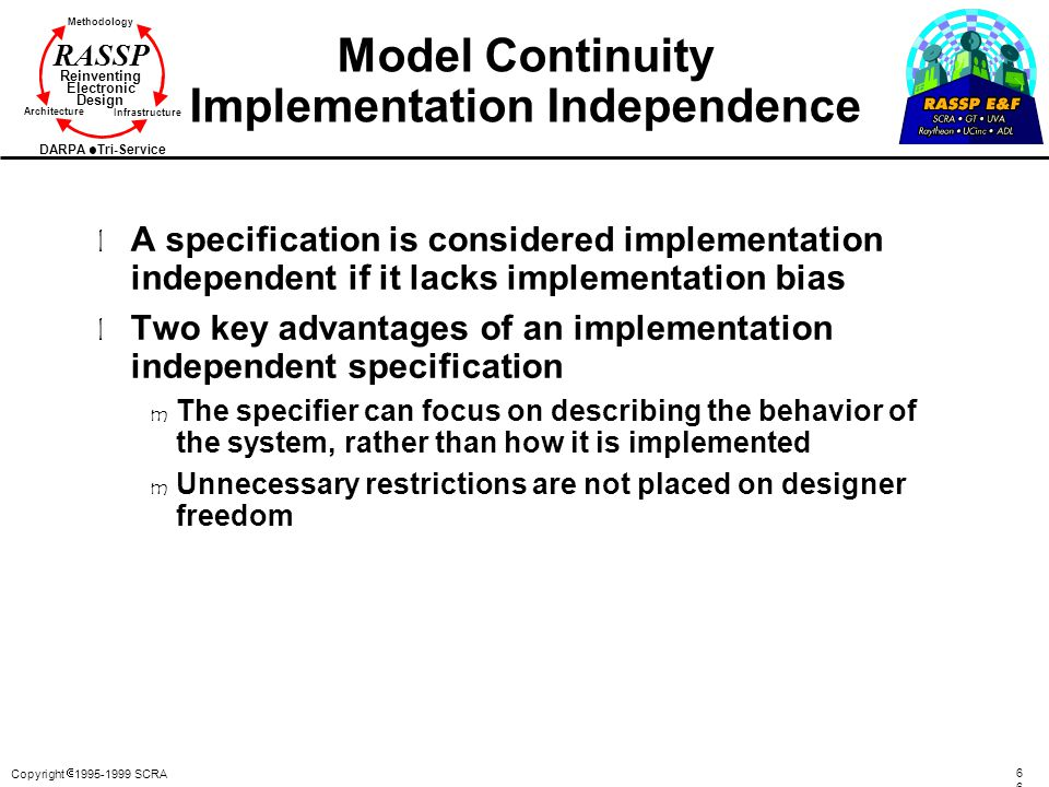 Model Continuity Implementation Independence