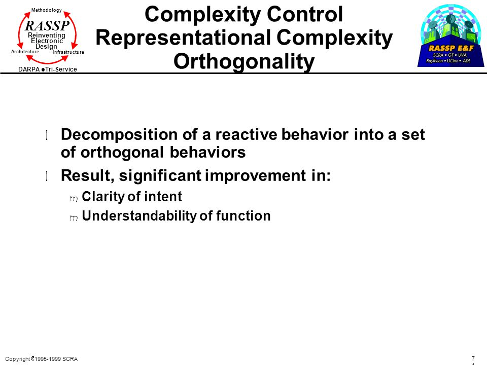 Complexity Control Representational Complexity Orthogonality
