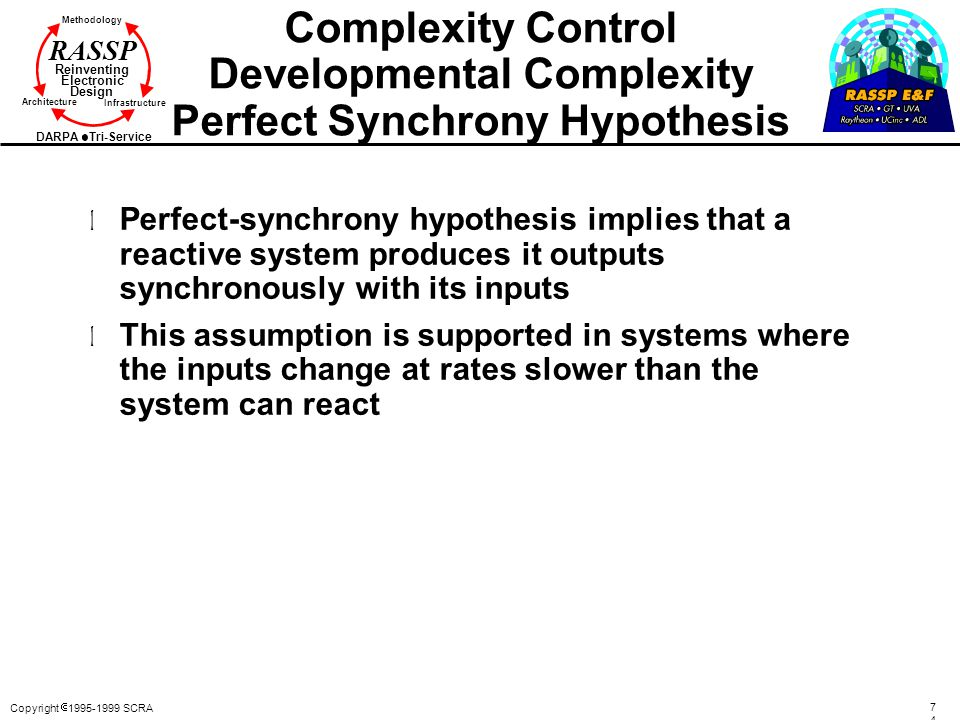 Complexity Control Developmental Complexity Perfect Synchrony Hypothesis