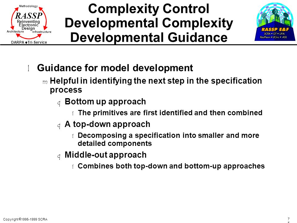 Complexity Control Developmental Complexity Developmental Guidance