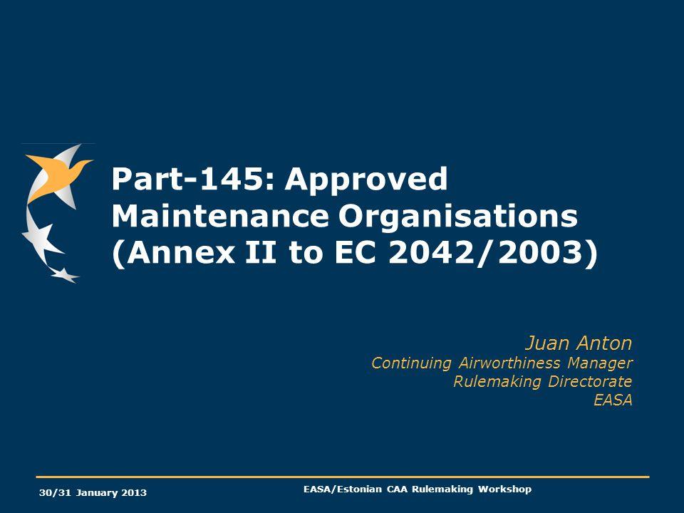 EASA/Estonian CAA Rulemaking Workshop