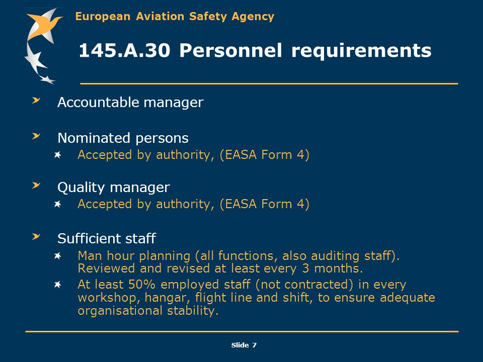 145.A.30 Personnel requirements